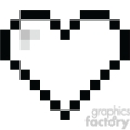 8 bit heart love black  gif, png, jpg, eps, svg, pdf