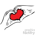 hands forming shape of heart