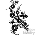 chinese swirl floral design 062  gif, png, jpg, eps, svg, pdf