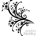 Chinese swirl floral design 007