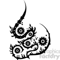 chinese swirl floral design 087  gif, png, jpg, eps, svg, pdf