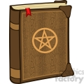 Clipart of Magic Book With Pentagram