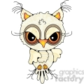 owl front view colored  gif, png, jpg, eps, svg, pdf