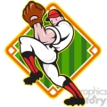 baseball pitcher front diamond