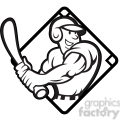 black and white baseball player batting side diamond half  gif, png, jpg, eps, svg, pdf