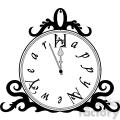 Happy New Year Clock clipart