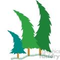 Bending Pine Trees clipart