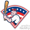 baseball player batting front kick diamond half  gif, png, jpg, eps, svg, pdf