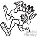 black and white turkey runner frnt side