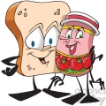 bread and jam hugging  gif, png, jpg, eps, svg, pdf
