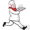 chef carrying a bowl of food  gif, png, jpg, eps, svg, pdf