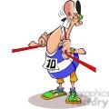 runner biting finish line