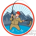 fisherman fishing with net front  gif, png, jpg, eps, svg, pdf