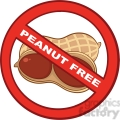 6593 Royalty Free Clip Art Stop Peanuts Sign With Text