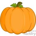 6603 Royalty Free Clip Art Pumpkin Cartoon Illustration