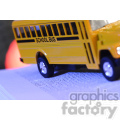 school bus on a book