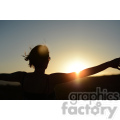 lady stretching during sunset yoga  jpg