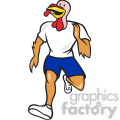 turkey runner front view shape  gif, png, jpg, eps, svg, pdf