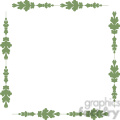 green floral frame swirls boutique design border 15