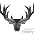 geometric buck illustration silhouette geometry logo vector graphic