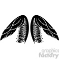 vinyl ready vector wing tattoo design 031