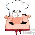 6826_Royalty_Free_Clip_Art_Cute_Chef_Head_Cartoon_Character