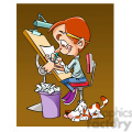 vector cartoon cartoonist drawing