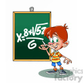 vector cartoon child in math class school