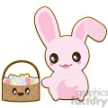 Easter Bunny cartoon character illustration
