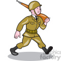 soldier marching rifle