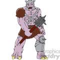 warrior monster hold club CARTOON