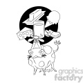 cattle thinking about the meaning of life black and white  gif, png, jpg, eps, svg, pdf