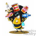 bee juggling items products honey and chemicals  gif, png, jpg, eps, svg, pdf