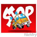 car accident stop illustration
