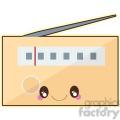 Radio cartoon character vector image