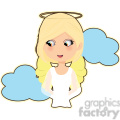 female Angel cartoon character vector image