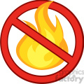 royalty free rf clipart illustration stop fire sign with burning flame  gif, png, jpg, eps, svg, pdf