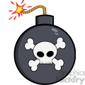 royalty free rf clipart illustration cartoon bomb with skull and crossbones  gif, png, jpg, eps, svg, pdf