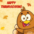 8980 royalty free rf clipart illustration happy turkey bird cartoon character looking from a corner vector illustration greeting card gif, png, jpg, eps, svg, pdf