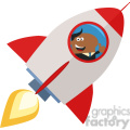 8333 Royalty Free RF Clipart Illustration African American Manager Launching A Rocket And Giving Thumb Up Flat Style Vector Illustration