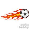 royalty free rf clipart illustration flaming soccer ball  gif, png, jpg, eps, svg, pdf
