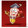 woody the cartoon pencil character graduating from school