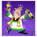 paul the cartoon priest character getting drunk