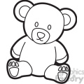 cartoon teddy bear coloring page