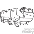 military armored mobile missle vehicle outline