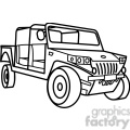 military armored tactical vehicle outline