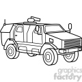 military armored mrap vehicle outline