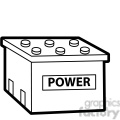 black white power cell battery illustration graphic