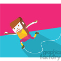 ice skater sports character illustration