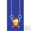 gymnastics rings sports character illustration